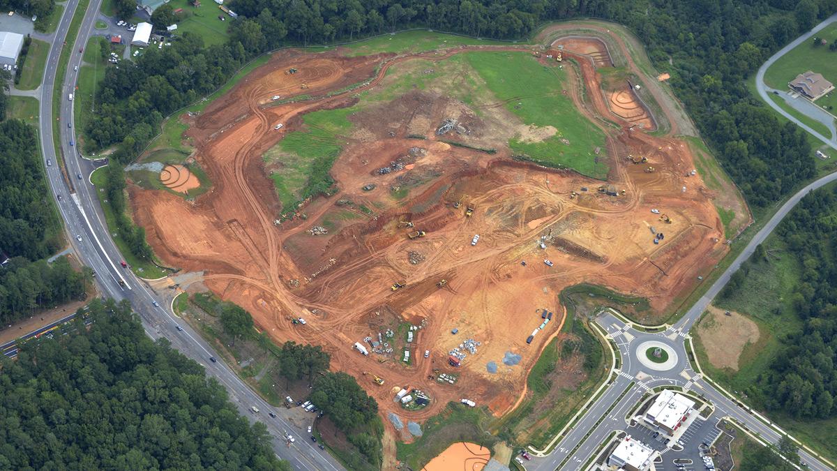 Aerial Photo of Construction at Mosaic