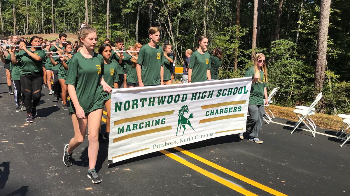 Northwood High School Cheerleaders and Band