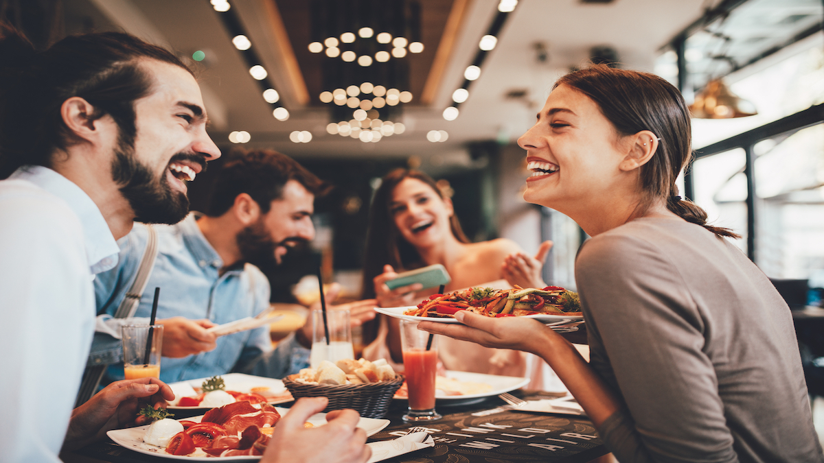 Group dining enjoyment